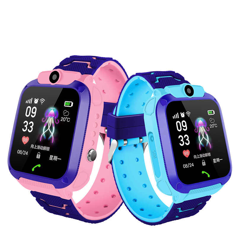 Waterproof Children Watch Telephone Smart Phone Game Intelligent Positioning English Language Multifunction Student Kids Watches