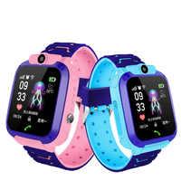 Waterproof Children Watch Telephone Smart Phone Game Intelligent Positioning English Language Multifunction Student Kids Watches
