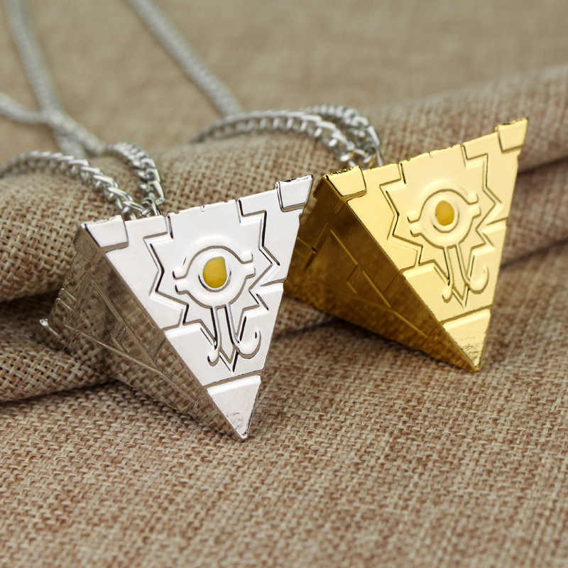 SG Silver Gold Yu Gi Oh Men Women Necklace Kolye 3D Yugioh Puzzle Necklaces Pendants Collares Animado Cosplay Jewelry