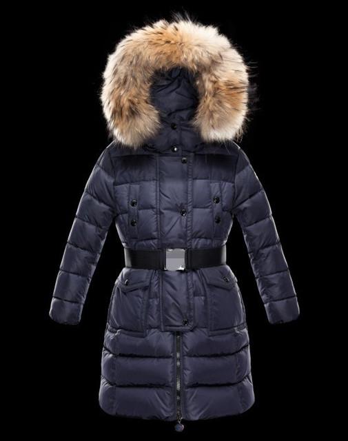 Moda vestuário 2013 das crianças para baixo casaco bebê criança do sexo masculino criança do sexo feminino de médio-longo grande gola de pele