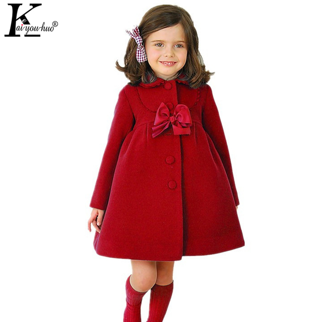 KEAIYOUHUO לילדים ביגוד הגדול Bow מעילי מעילי מעילי חורף נערות בנות בגדי ילדים חמים כותנה שרוול ארוך הלבשה עליונה אופנהjacket for girlsgirls outerwearcoat children