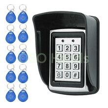 Металлический водонепроницаемый контроль доступа 125 кГц RFID считыватель карт клавиатура с 10 ключами с дождевиком система контроля допуска к двери