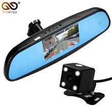 Car Camera Rearview Mirror Auto DVR Car DVR Dual Lens Dash Cam Recorder Video Registrator Camcorder Full HD1080p Night Vision