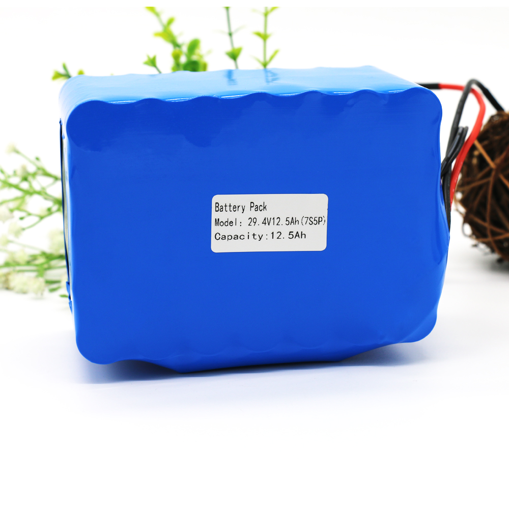 24V 7S5P 29.4V12.5Ah 18650 Li-ion Battery Pack for Electric Unicycles Moped Ebike Scooters Light Bicycle Wheelchair with BMS 24v 10 ah 6s5p 18650 battery lithium battery 24 v electric bicycle moped electric li ion battery pack
