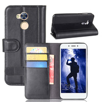 Flip Wallet Case For Huawei Honor 9 6A Coque Luxury Genuine Leather Phone Bag Cover Shell