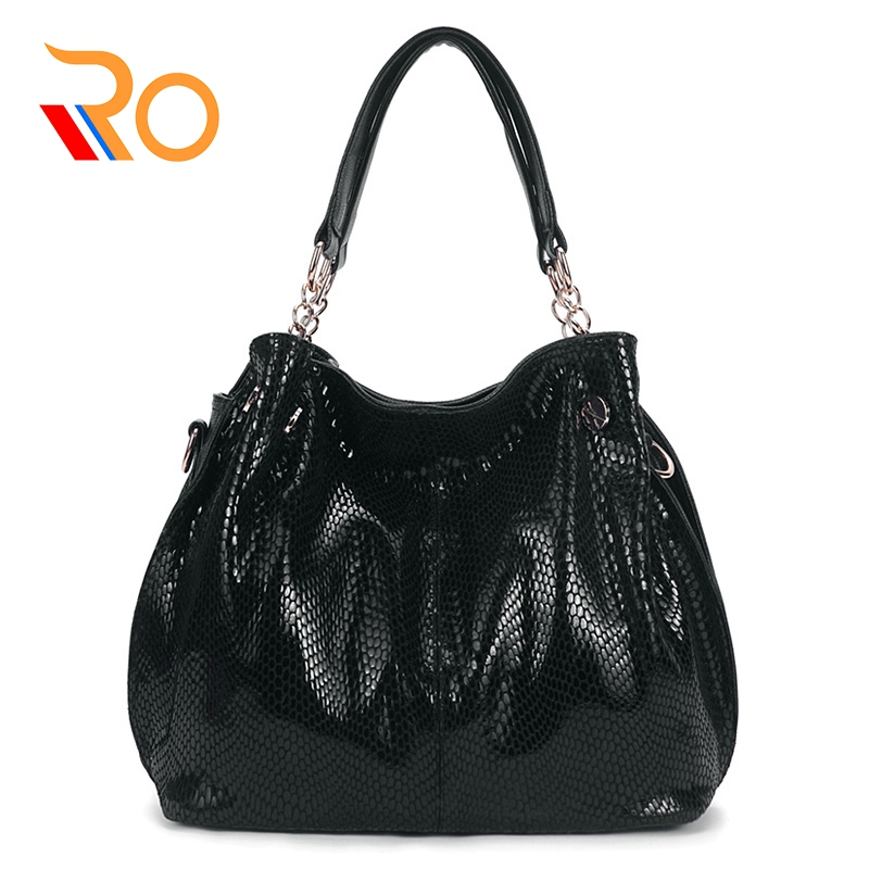 Fashion Women Handbags Snake Pattern Tote Bag Serpentine Designer Female Shoulder Bags High Quality Leather Women Crossbody Bags