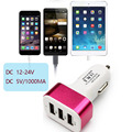 Powerful 5V 2.1A 3 Port USB Car Charger for iPhone 6S 6 Plus iPad Air 2 mini 3 Galaxy S7 S6 Edge+ Note 5