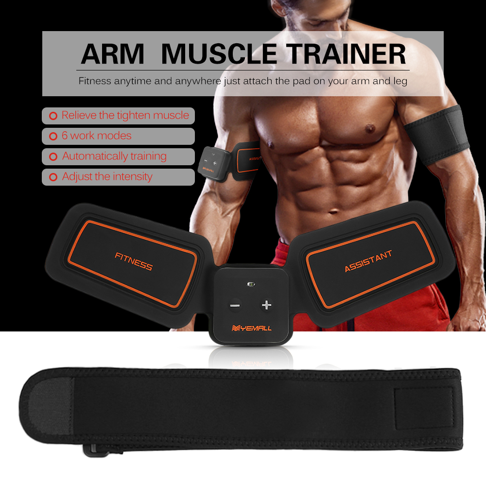 Arm Musclel trainer EMS Stimulation Power fit Vibration Plate Fitness Toner Leg Waist Exercise Health Arm Training Toning Gear