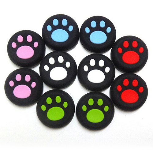2pcs Cartoon Silicone Catlike Thumb Stick Grip Cap for PS3 PS4 Xbox One/360 Game Accessories Parts