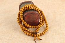 108 0 8cm Wood Prayer Beads Tibetan Buddhist Mala Buddha font b Bracelet b font Rosary