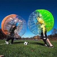 Бесплатная доставка Воздушный надувной пузырь футбольный мяч мм 1,5 мм ПВХ 0,8 м надувной шар амортизатор в форме футбольного мяча гигантский