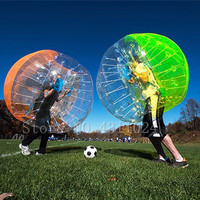 Free Shipping Air Inflatable Bubble Soccer Ball 0.8mm PVC 1.5m Inflatable Bumper Bubble Soccer Ball Giant Human Hamster Ball