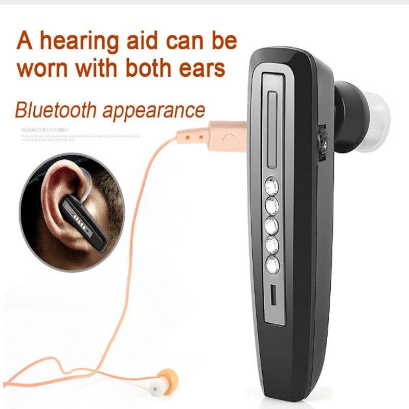 Перезаряжаемые слуховой аппарат bluetooth усилитель глухих-помощи наушников S-101 Дешевые слуховые аппараты для пожилых людей как для ушей