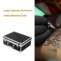 Large Capacity Tattoo Machine Case Aluminum Kit Carrying Storage with Lock Tattoo Supply Accessories