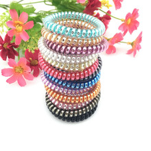 ФОТО s   Candy Color Telephone Line Elastic Hair Bands Women Hair Accessories Girl Simple Hair Ropes 4jwd136