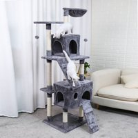 Cat Tree Cat Tree Tower Furniture Kitten Playhouse Sisal Covered Scratching Posts Perches Platforms Ladder with Scratching Post