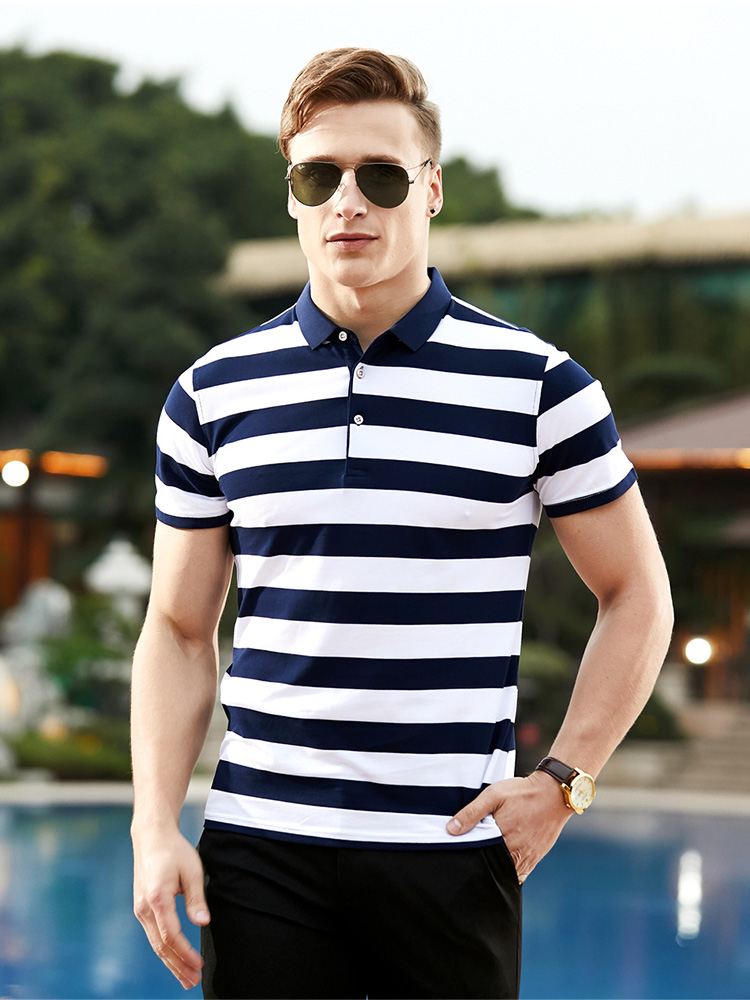 New Brand   Polo   Shirt Men Business Casual Mens Clothing High Quantity Solid Summer Breathable Slim Cotton Male Short Sleeve