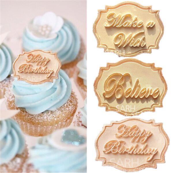 cake cards shape series cake decorations of believe make a wish
