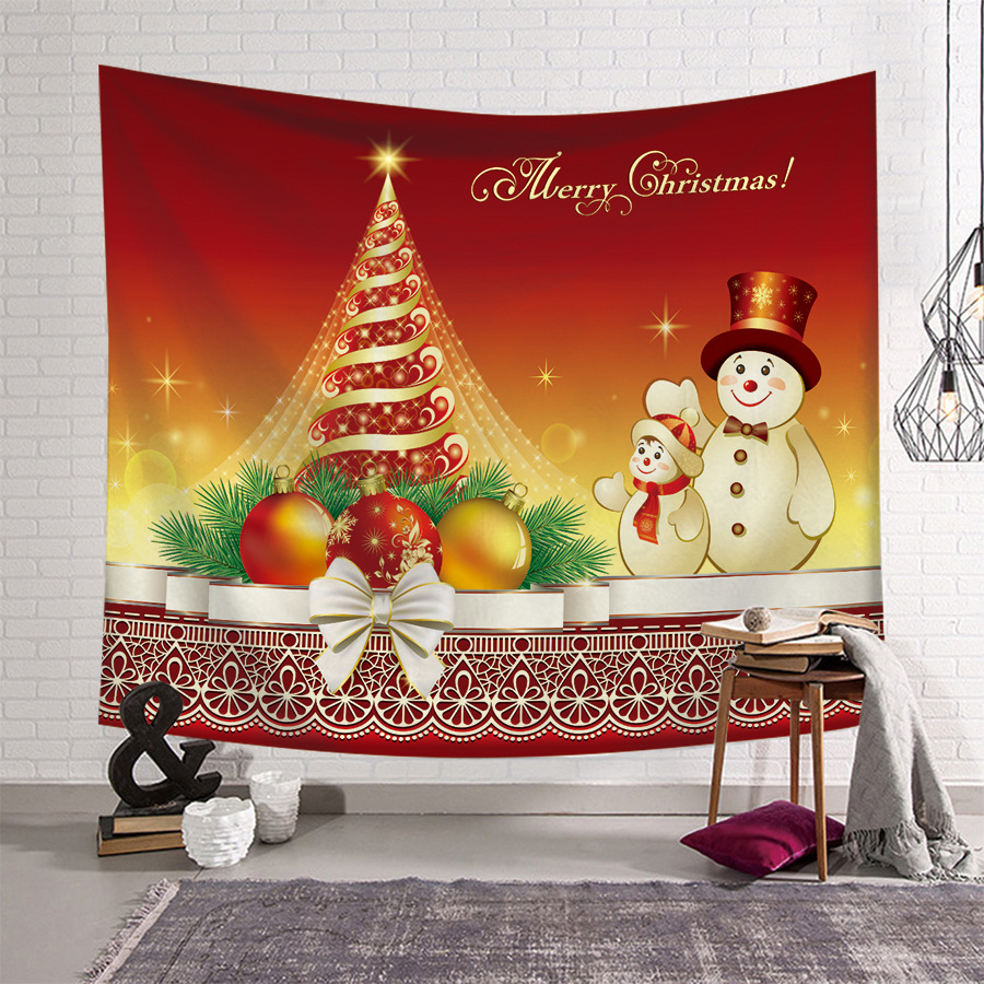 Hanging Christmas Decorations Wall.Us 0 19 Christmas Tree Decorations Wall Hanging Tapestry Xmas Art Home Wall Christmas Decorations Tapestries For Living Room Bedroom In Decorative