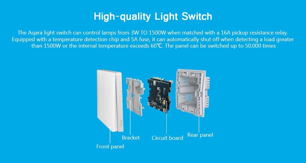 Xiaomi Aqara Smart Light Control Wireless Wall Switch Fire Wire and ...