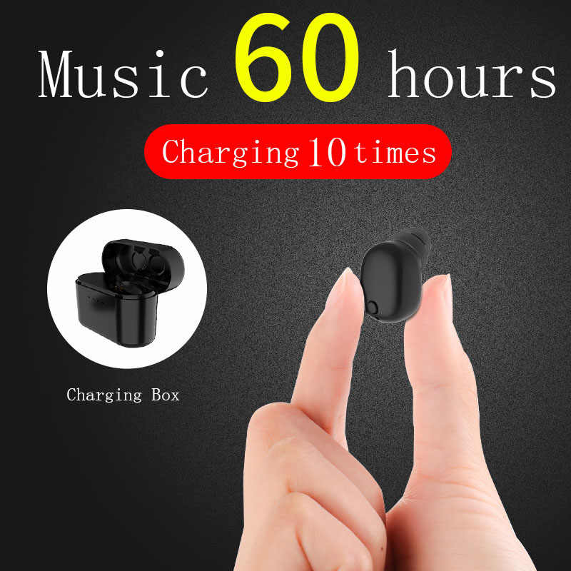 Z3 HIFI Mini Bluetooth אוזניות עם מיקרופון אלחוטי אוזניות מוסיקה Earbud Bluetooth 4.2 רעש ביטול עם טעינת תיבה