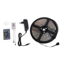 1PC LED Strip Light 5m 12V SMD 5050 RGB 300 Leds IP65 w/Bluetooth App Controlled New