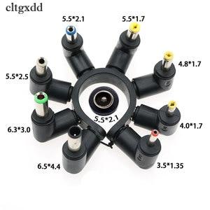Image 1 - Cltgxdd 90度角度付き8で1ユニバーサルdc 5.5 × 2.1ミリメートル女性に5.5*2.5 4.8/4.0*1.7ミリメートルdc雄プラグ電源コネクタ用ラップトップ