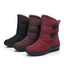 Snow Boots Women Boots Warm Ankle Boots Women Booties Waterproof Winter Shoes Plus Velvet Cotton Female Winter Boots Botas Mujer vismix 2017 women s snow boots winter female plus velvet snow platform boots women thermal cotton padded shoes flat ankle boots