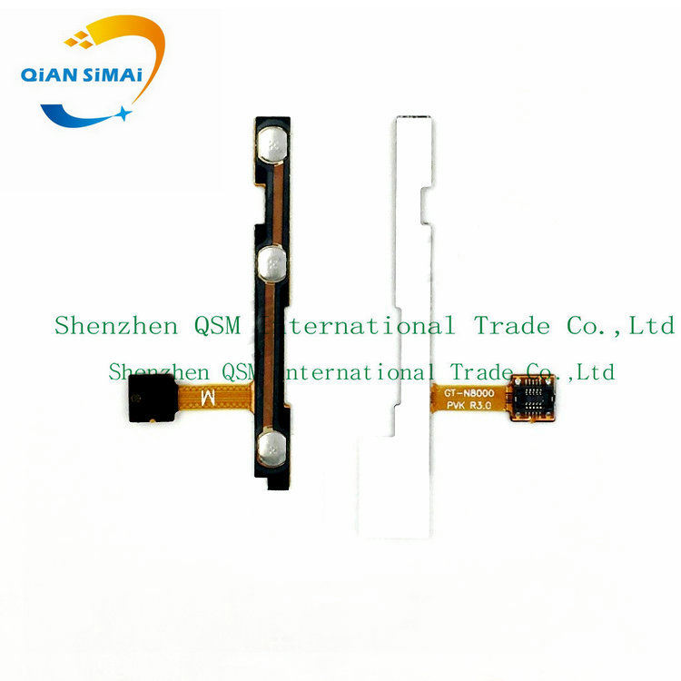QiAN SiMAi Power On/off & Volume Up/down Buttons Control Key Flex Cable For Samsung Galaxy Note 10.1 N8000 N8010 N8013 GT-N8000