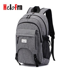 HeloFrn Sport Backpack Men Basketball USB Charging Canvas For 15.6 Laptop Teenager Male Football Bags Large Capacity