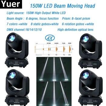 4 teile/los Strahl moving head licht 150w LED 3 Facet prisma moving head waschen licht spot licht für dj dmx Disco Bühne led par licht