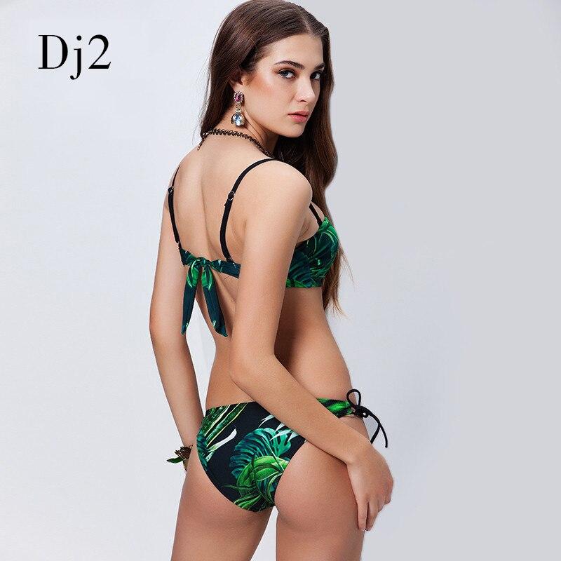 Merk 2017 sexy bandage bikini set vrouwen bikinis badpak hoge taille - Sportkleding en accessoires - Foto 6
