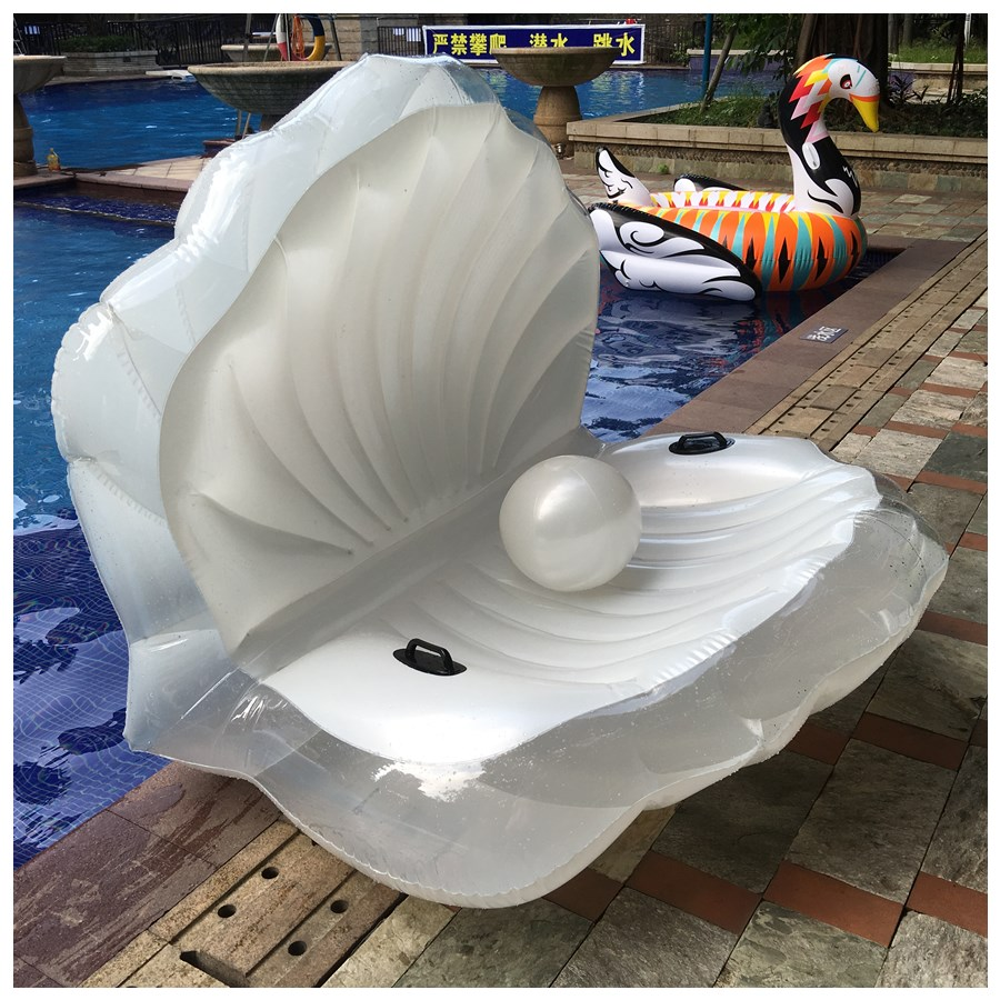 Adults Giant Pool Float Pearl Scallops Inflatable Shell