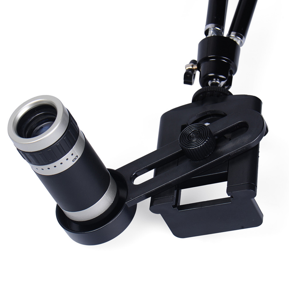 Mobile Phone Lens Universal 8X Zoom Telescope Camera Telephoto Lenses for iPhone 4 4S 5 5C 5S 6 Plus Samsung Galaxy S3 S5 Note 4 6