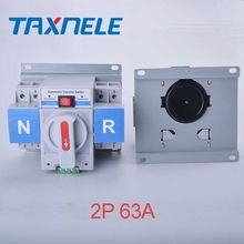 ATS 2P 63A 230V Micro Circuit Breaker Dual Power Automatic transfer switch/Auto transfer switch(China)