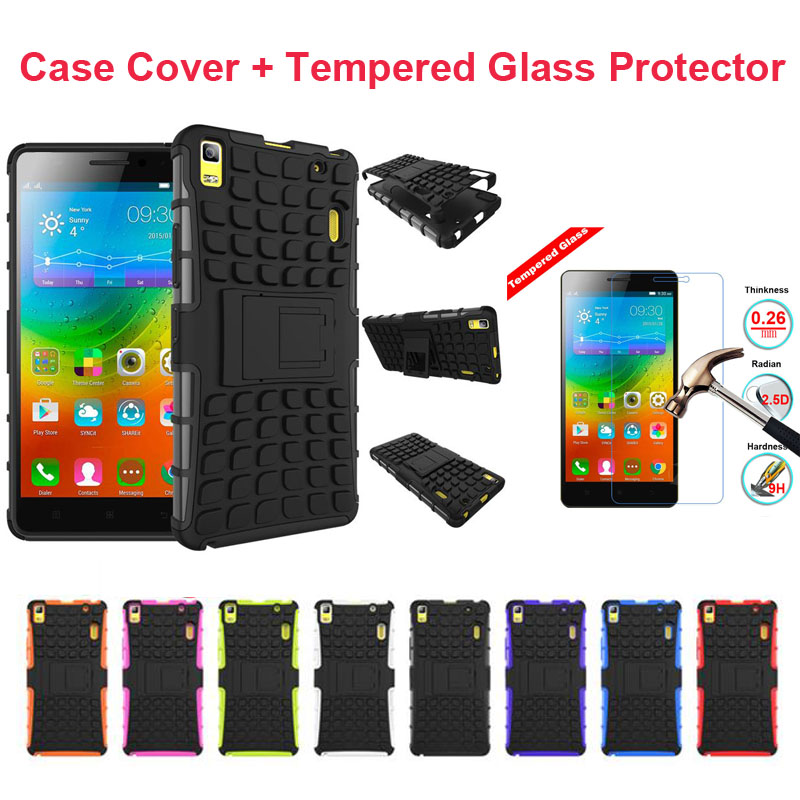 For Lenovo K5 Plus K3 Note A7000 Dustproof Hard Coque Fashion Soft Gel Shockproof Stand Case Cover With Free Tempered Glass Film
