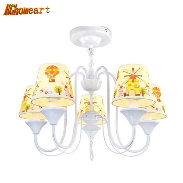 Hghomeart top childrens room with lampshade five chandeliers 110v hghomeart top childrens room with lampshade five chandeliers 110v 220v cartoon home lighting cute chinese aloadofball Image collections