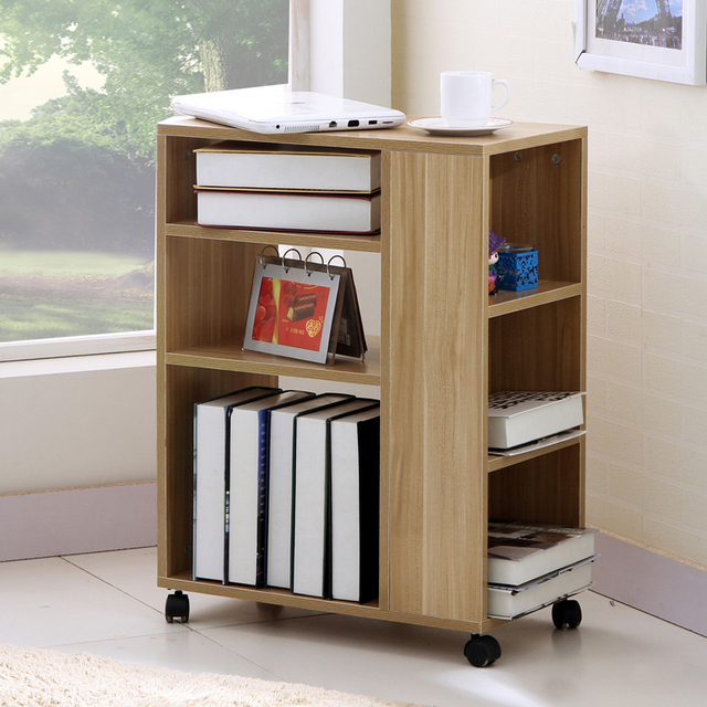 Movable Bookcase Cabinet Storage Cabinets Minimalist Office Printers Racks For Kids Lockers Pulley