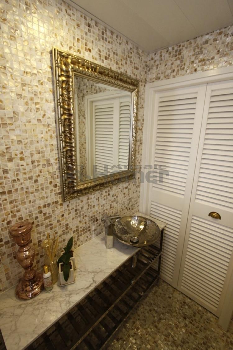 Bad wand mosaik fliesen, günstige mutter der perle fliesen badezimmer  dusche shell mosaik wand fliesen freies verschiffen
