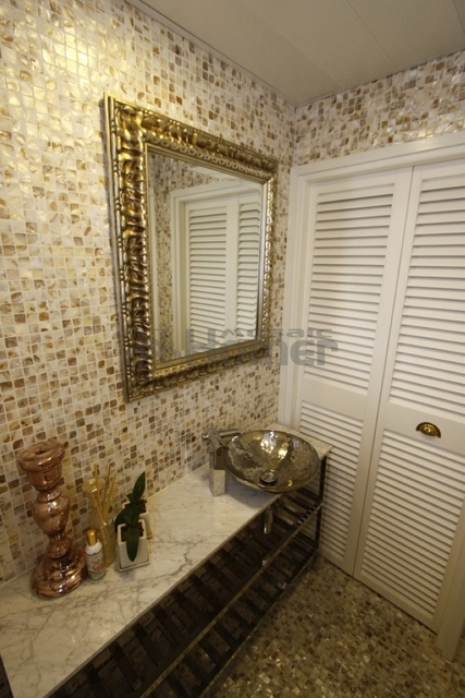 Badezimmer wandmosaik fliesen, günstige perlmutt fliesen badezimmer ...