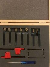 Токарный инструмент Бесплатная доставка Горячей продажи Токарный инструмент набор 7 ШТ. 6 мм