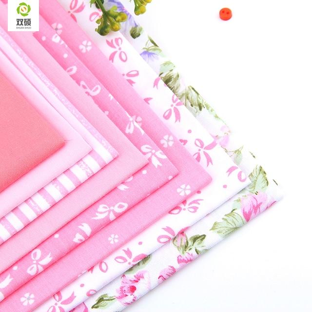 Хлопчатобумажная ткань не повторять дизайн розовая серия лоскутное полотно жира четверти расслоение швейная для ткани ткань для шитья ткань  ткань для скрапбукинга 8 шт./лот 40 см * 50 см A2-8-1