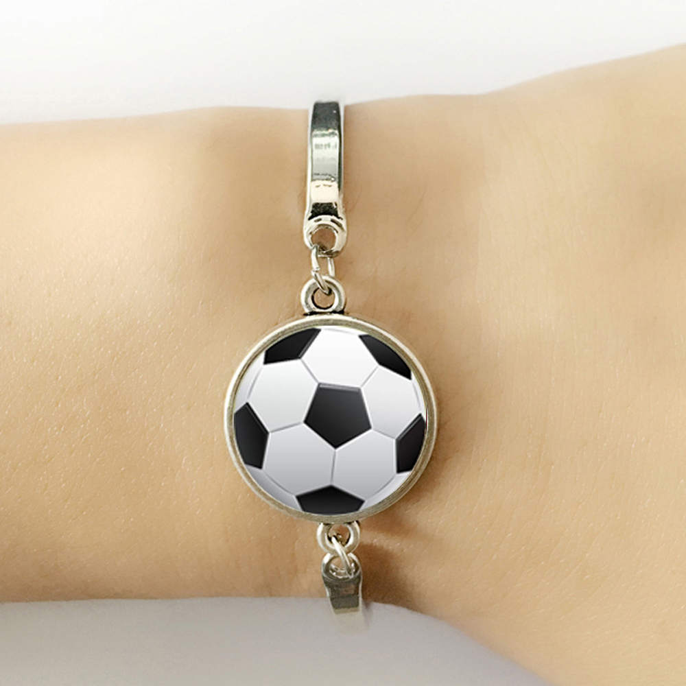 2018 world Football bracelet Jewelry Football silver bracelet Gift for Soccer Player gift FANS image