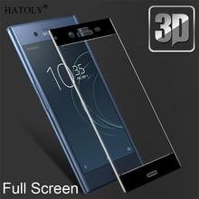 Sony XZ1 G8341 G8342 için Sony Xperia XZ1 Glass için SFOR temperli cam Sony Xperia XZ1 Cam Tam Kapsam Film Ekran Koruyucu