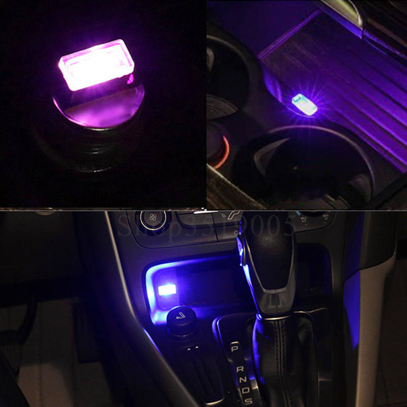 car styling cup holder storage box usb light accessories for peugeot 206 206 207 cc 207 301 306. Black Bedroom Furniture Sets. Home Design Ideas