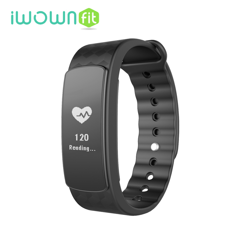 IN STOCK IWOWN IWOWNFIT I3 HR Smart Wristband Heart Rate Monitor IP67 Waterproof Smart Bracelet Fitness Tracker for Android
