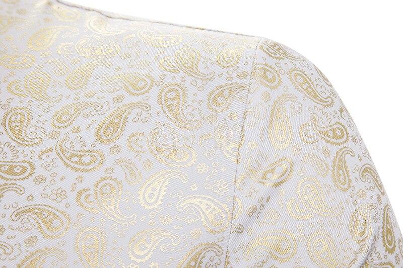 Nowy złoty brązujący Camisa społecznej koszule męskie  gIkfR