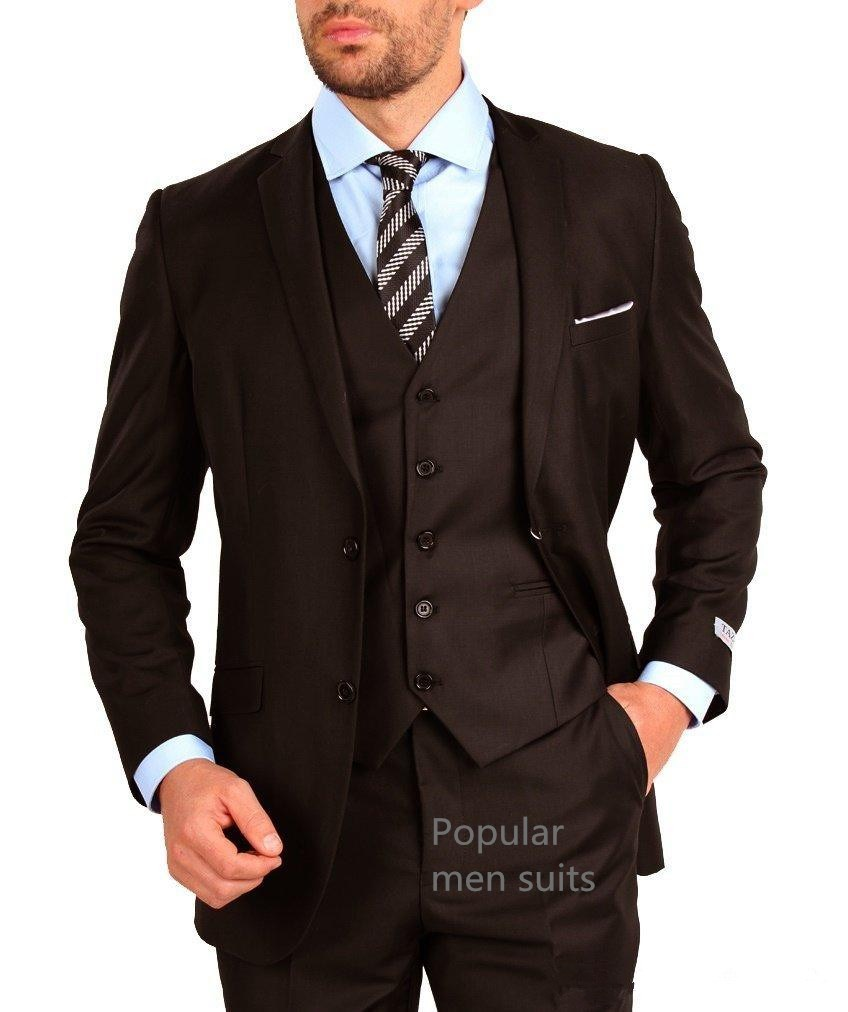 2018-Custom-made-Groom-Wedding-suits-Brown-Notched-lapel-3-pieces-Tuxedos-Groomsmen-suits-jacket-Pants_