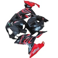 Injection Body molding Hot Sales, bodywork parts For Aprilia fairing kit 2006 2011 RS 125 06 07 08 09 10 11 black and red
