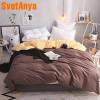 Svetanya Cotton Duvet Cover Solid Color Comforter Quilt Blanket Case with Zipper (no Quilt) Single Full Queen King double size